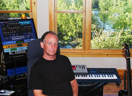 Squam Sound recording studio: Randy Roos in the control room at Squam Sound